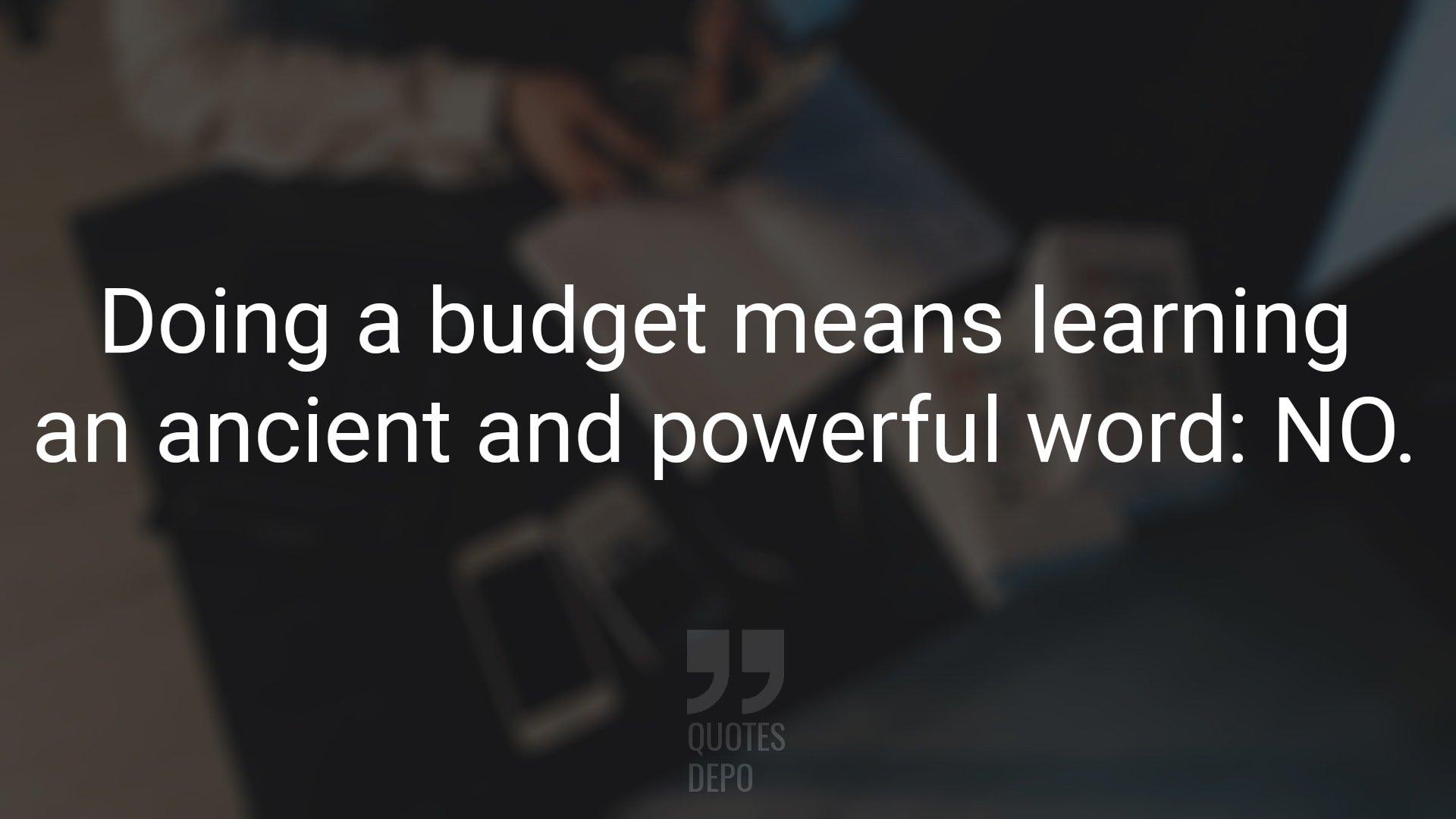 Doing a Budget