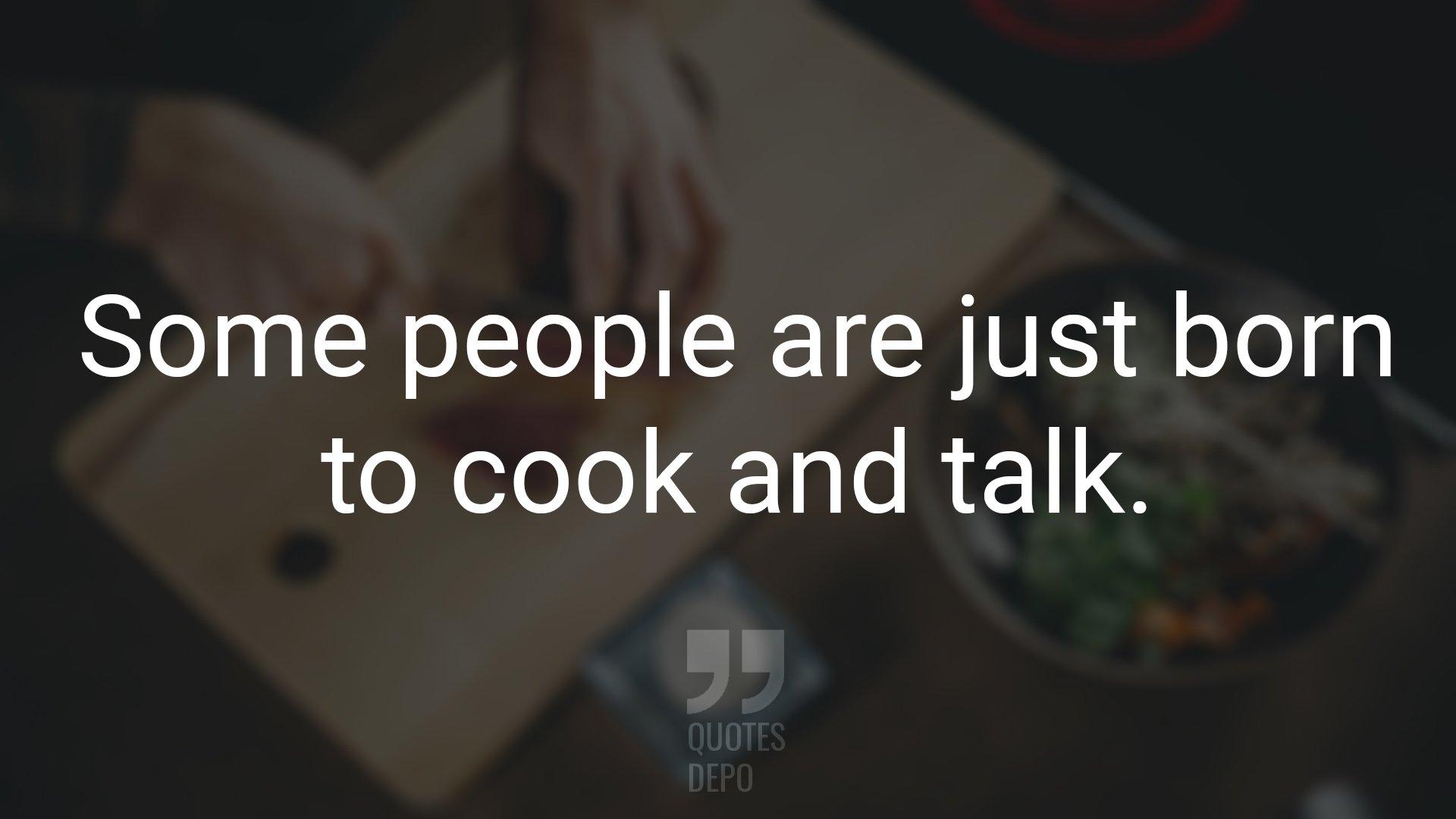 Some People are Just Born to Cook