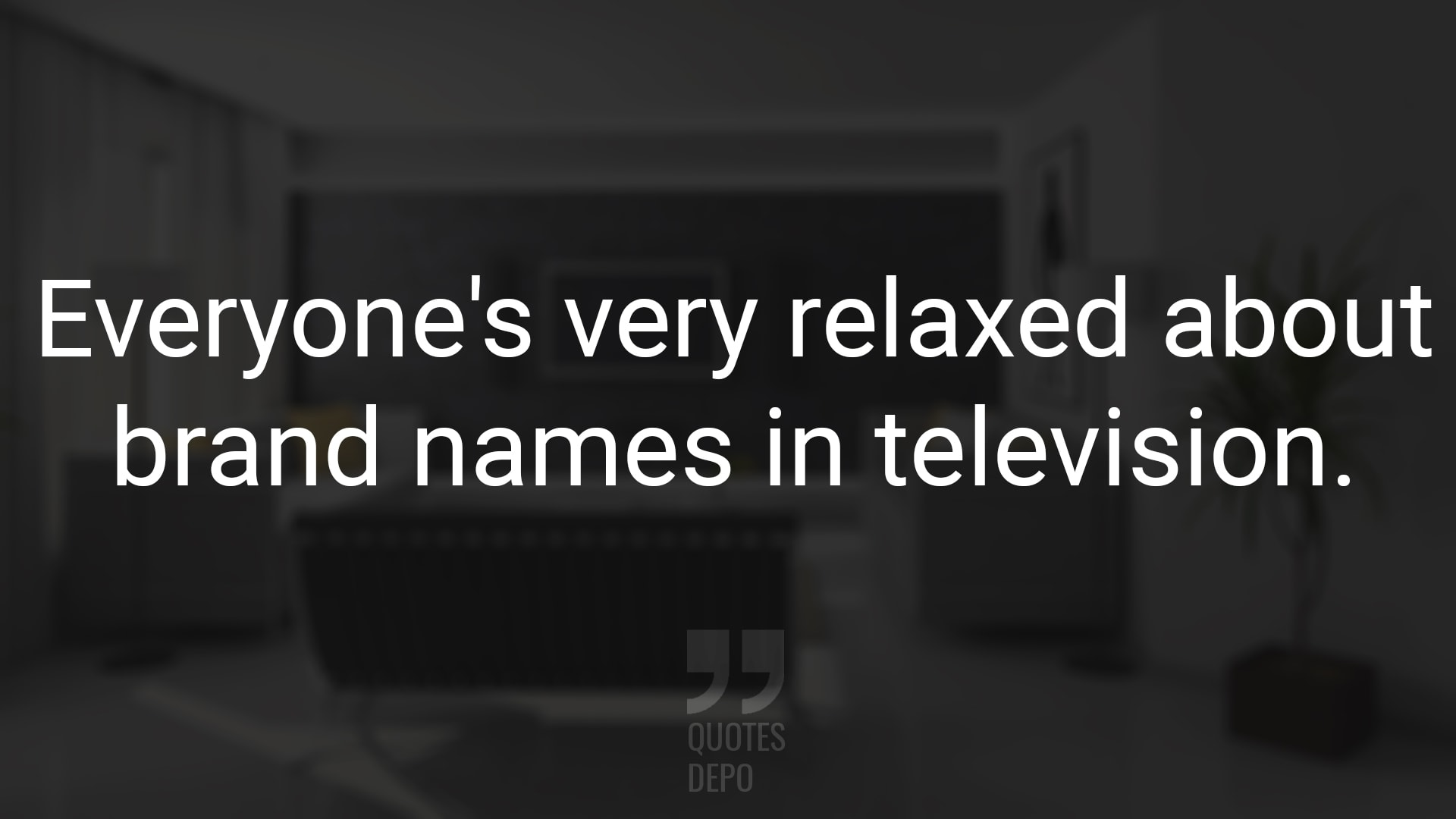 Everyone's Very Relaxed About Brand Names in Television