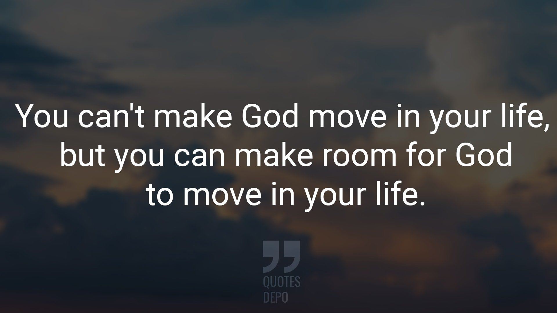 You Can't Make God Move in Your Life