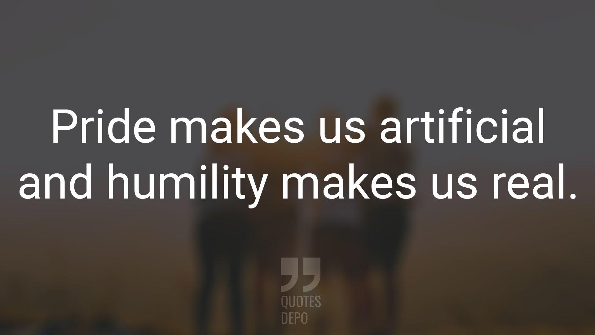 Pride Makes Us Artificial
