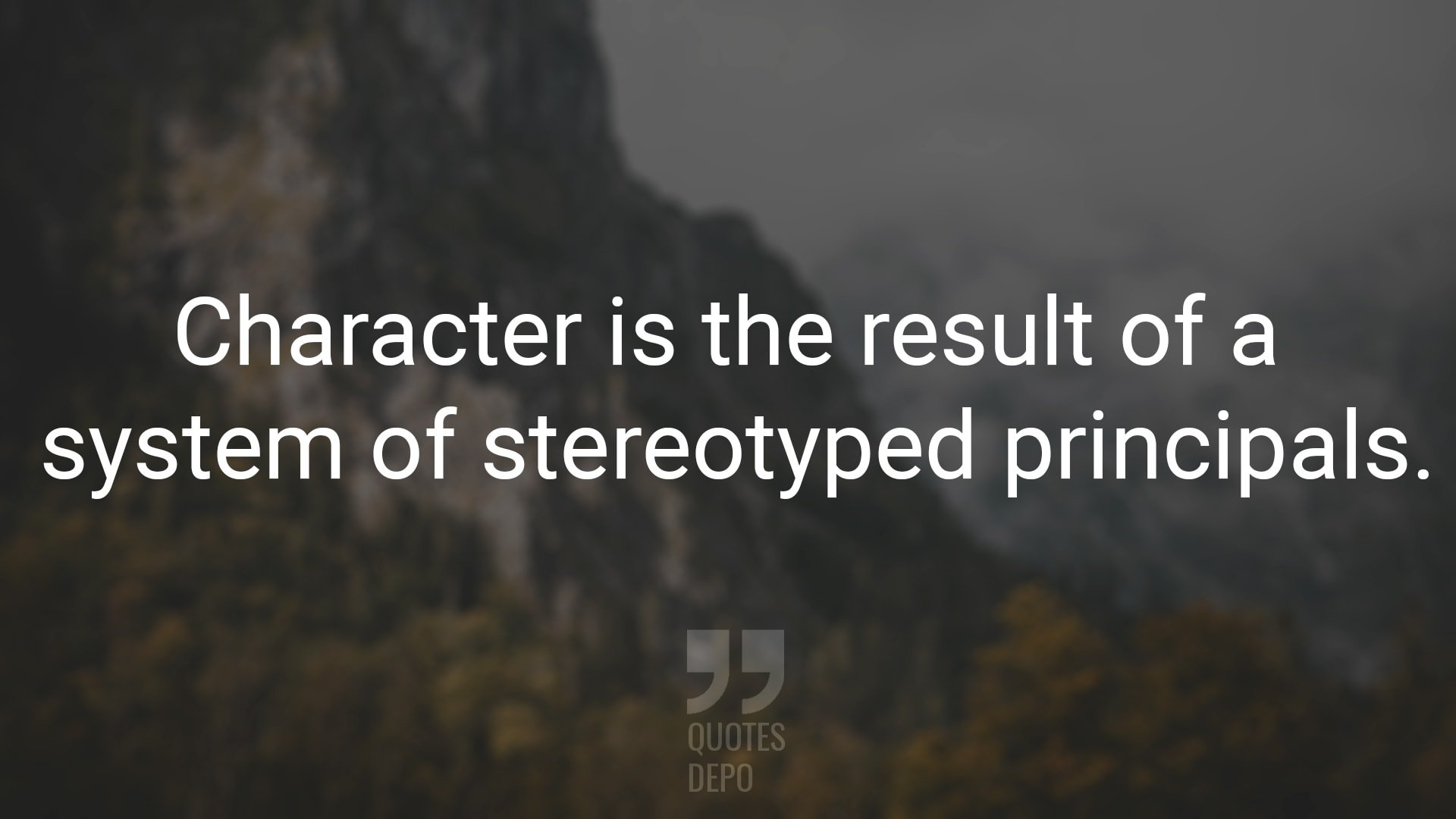 Character is the Result