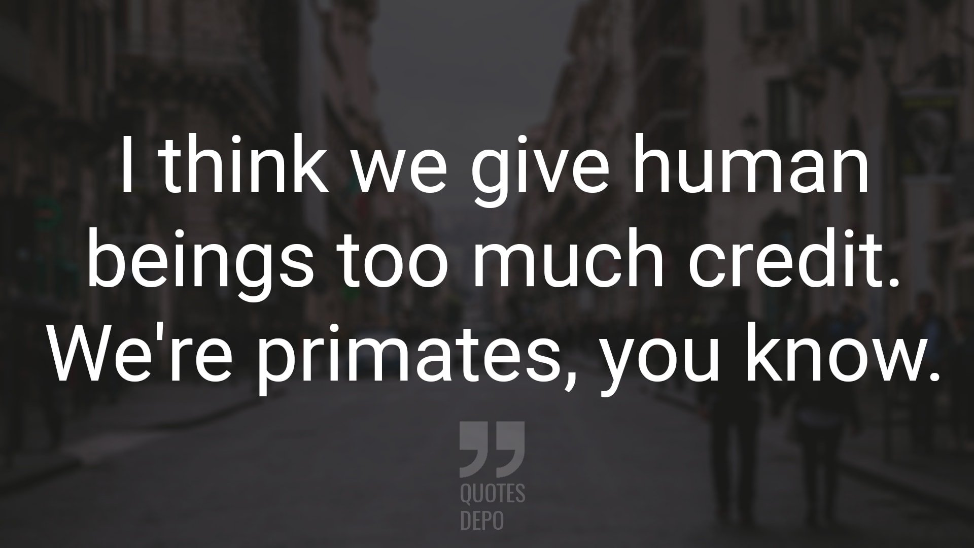 I Think We Give Human Beings