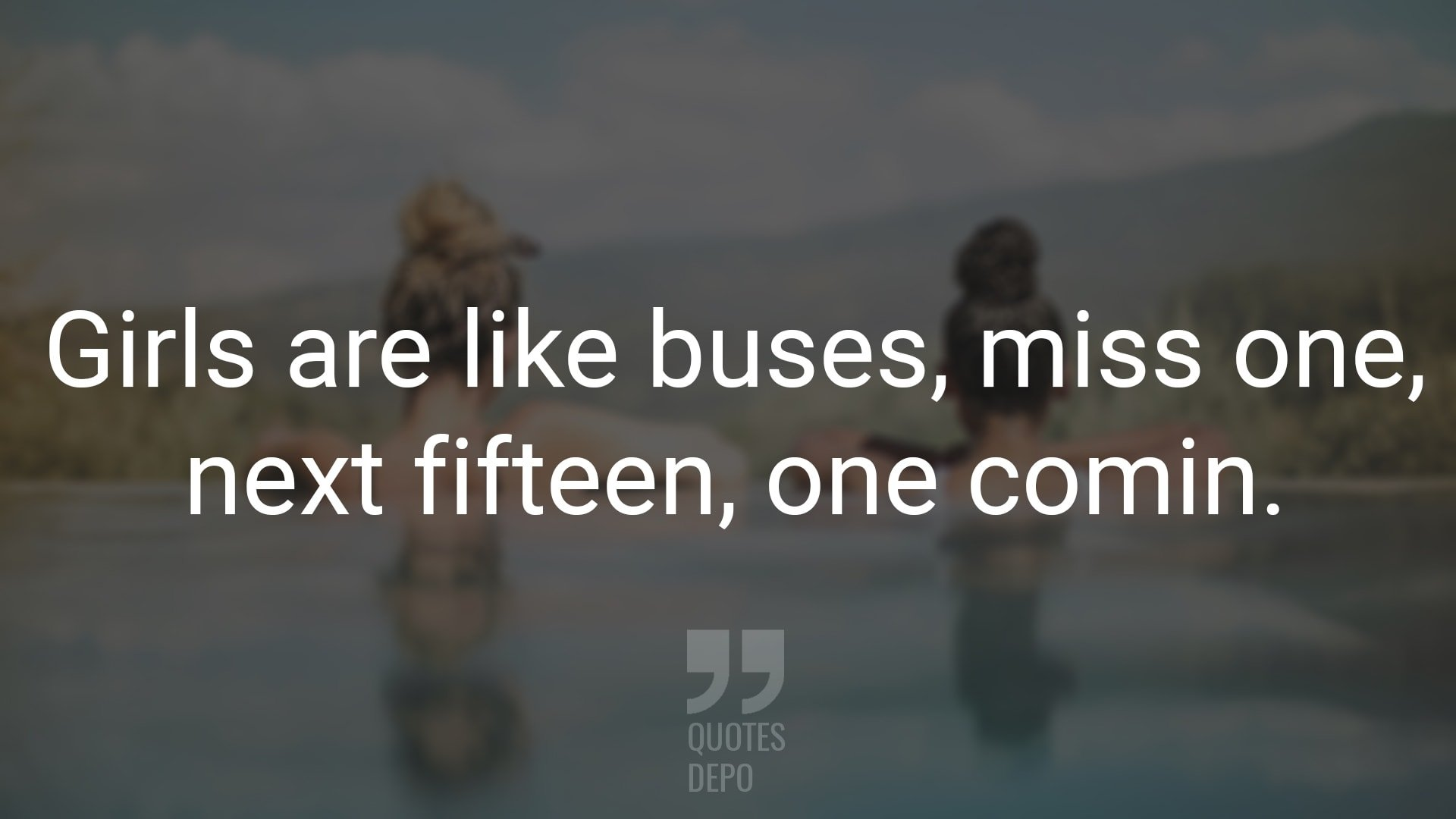 girls are like buses