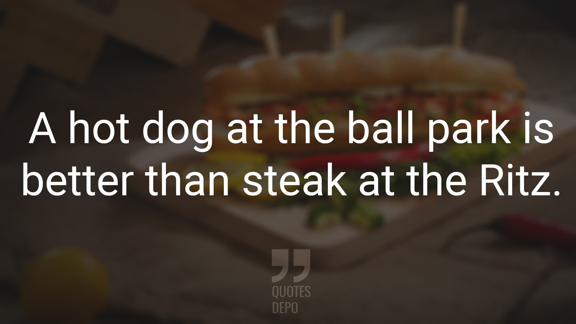 a hot dog at the ball park