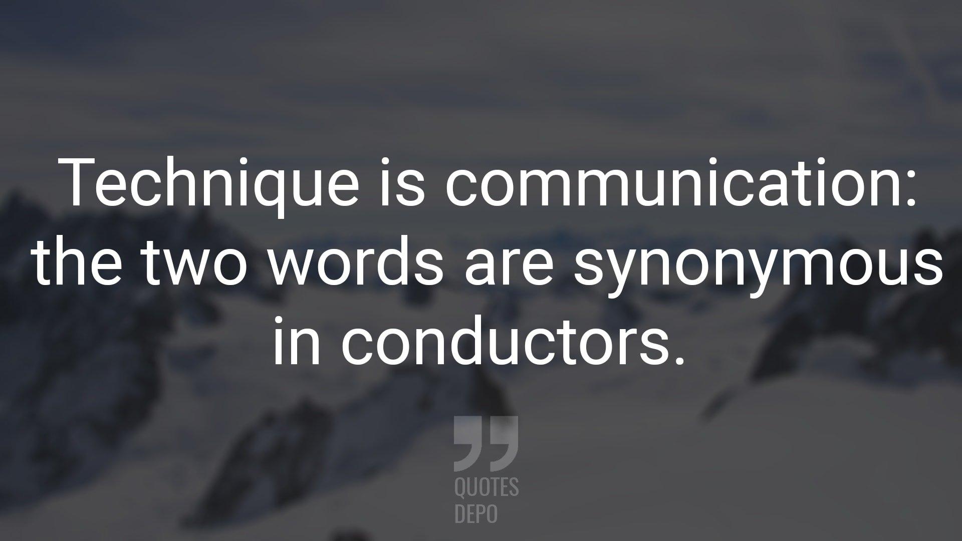 technique is communication