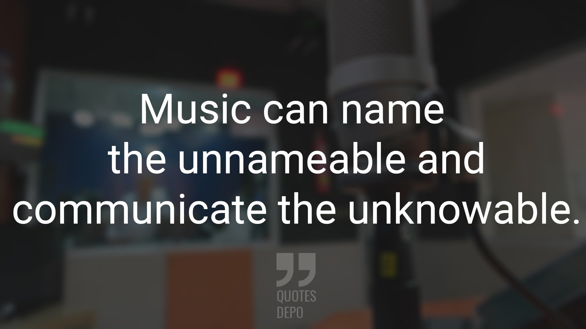 music can name the unnameable