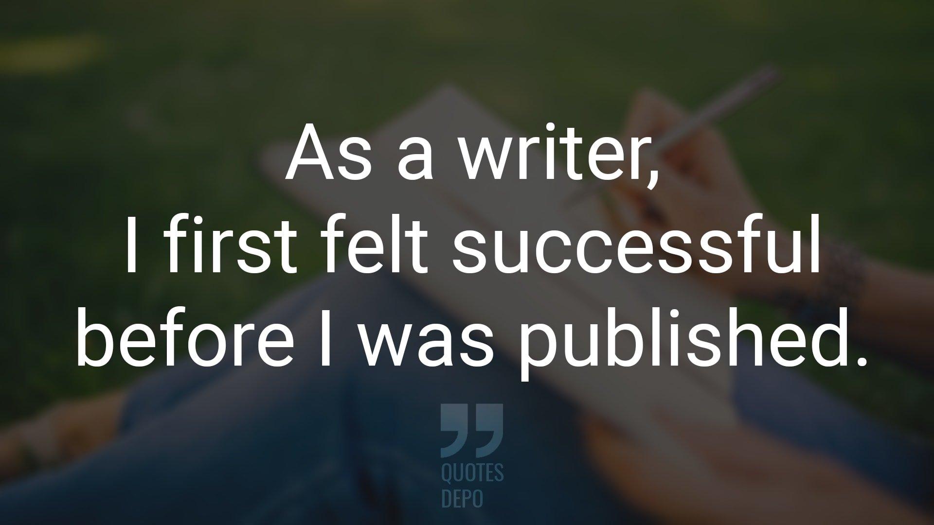 As a Writer