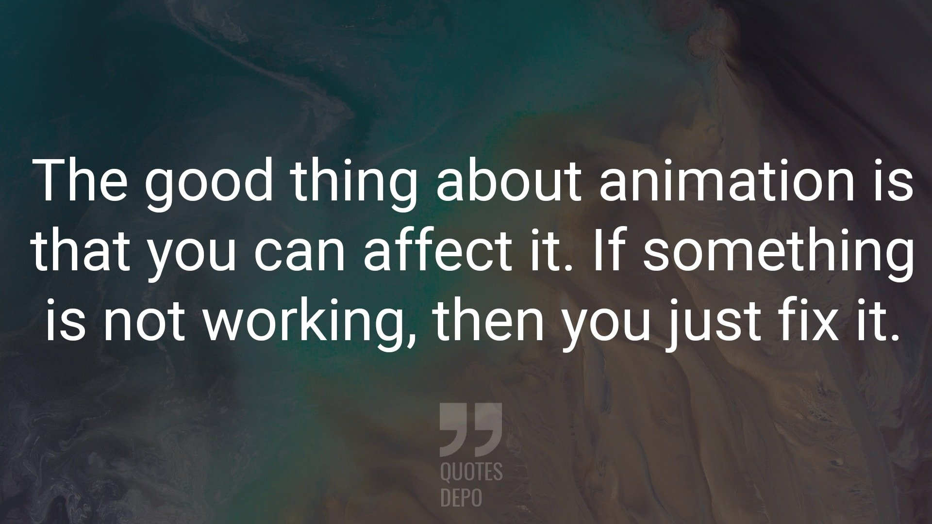 The Good Thing About Animation