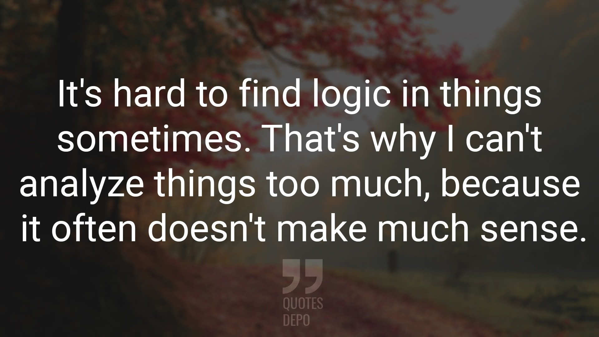 It's Hard to Find Logic in Things
