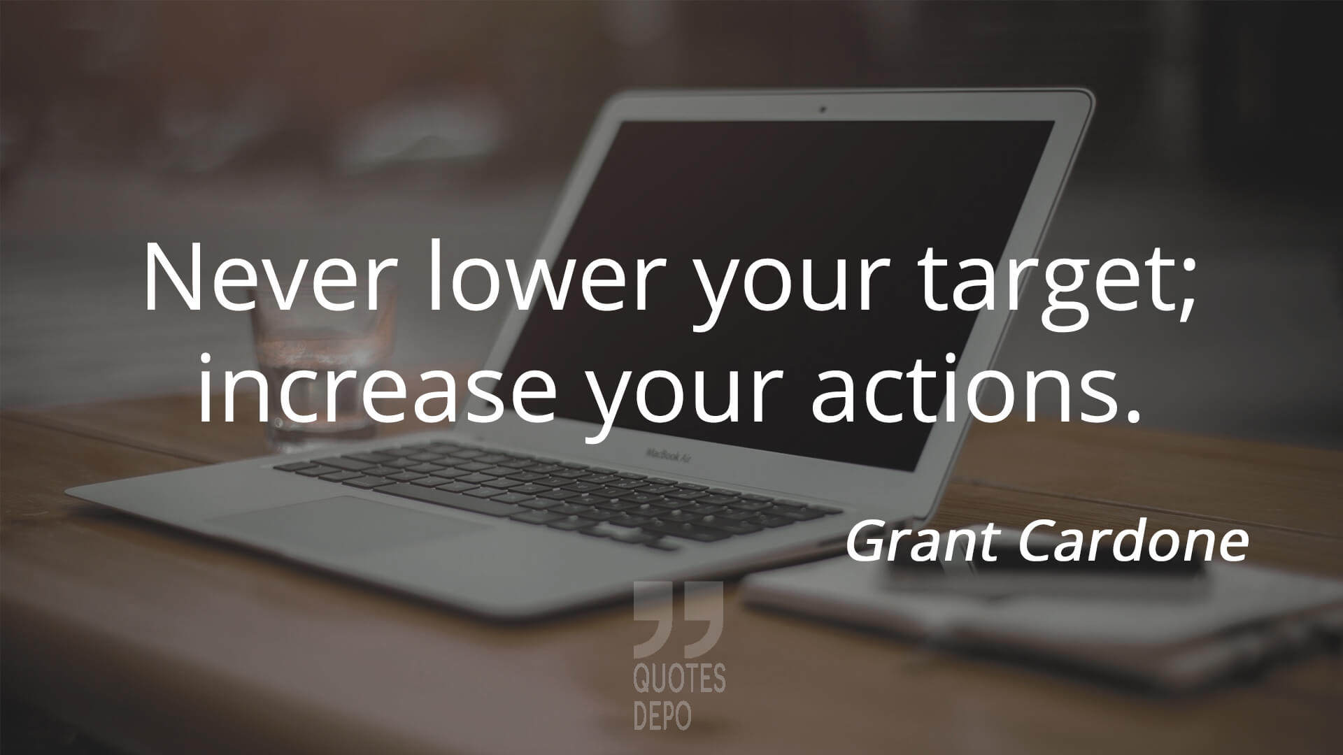 never lower your target